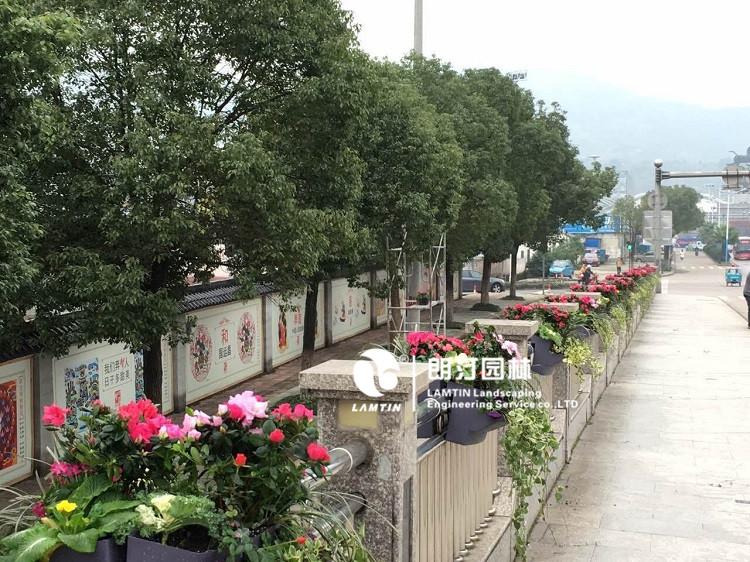马鞍式护栏花盆